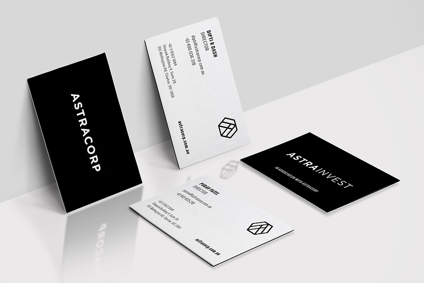 Small and Co Portfolio, Astracorp Business Cards