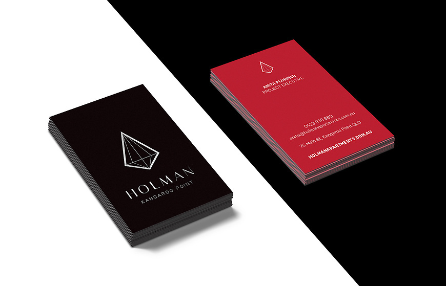 Holman, Kangaroo Point Apartments - Sales Agent Business Cards by Small & Co