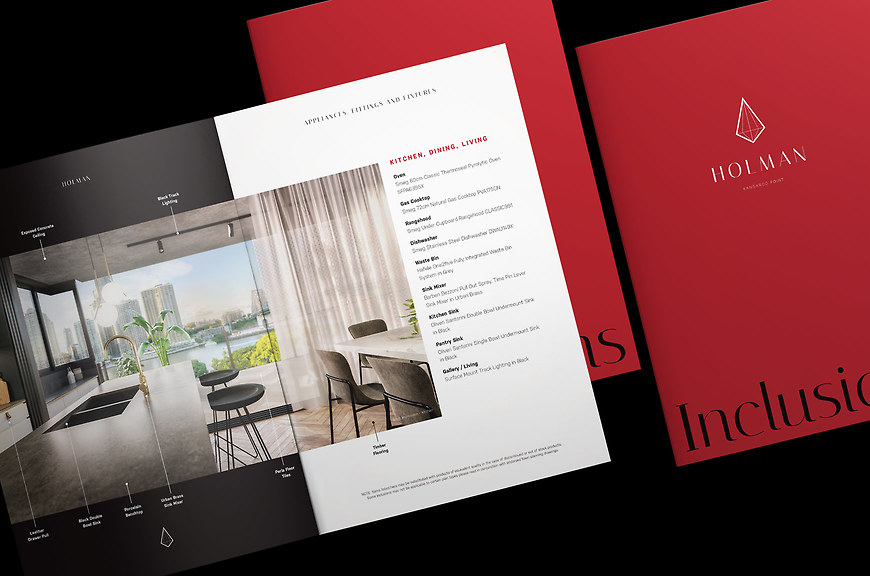 Holman, Kangaroo Point Apartments - Inclusion Flyer by Small & Co