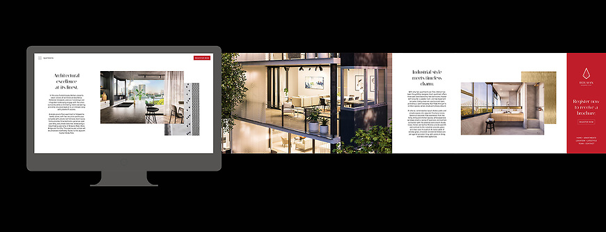 Holman, Kangaroo Point Apartments - Website by Small & Co