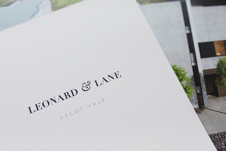 Leonard & Lane, Ascot Vale Townhouses - Brochure by Small & Co