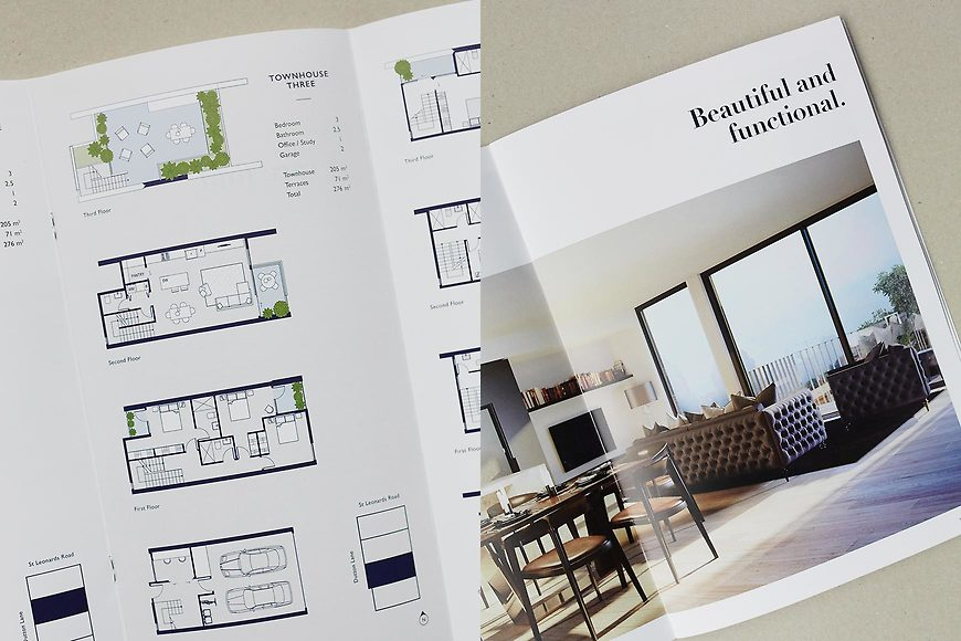 Leonard & Lane, Ascot Vale Townhouses - Brochure and Marketing Floorplans by Small & Co