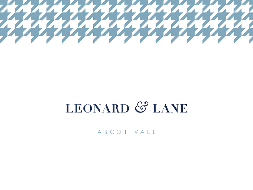 Leonard & Lane, Ascot Vale Townhouses - Branding and Creative Direction by Small & Co
