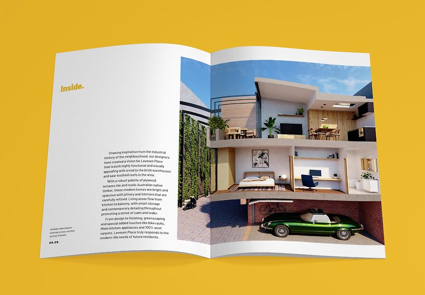 Leveson Place, North Melbourne Townhouses - Lifestyle Brochure by Small & Co