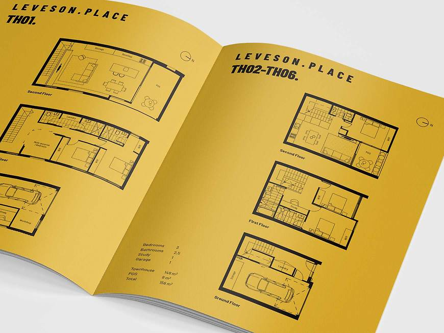 Leveson Place, North Melbourne Townhouses - Marketing Floorplan Design by Small & Co