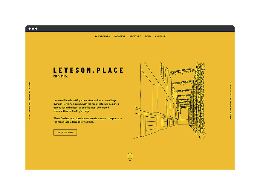 Leveson Place, North Melbourne Townhouses - Website Design and Development by Small & Co