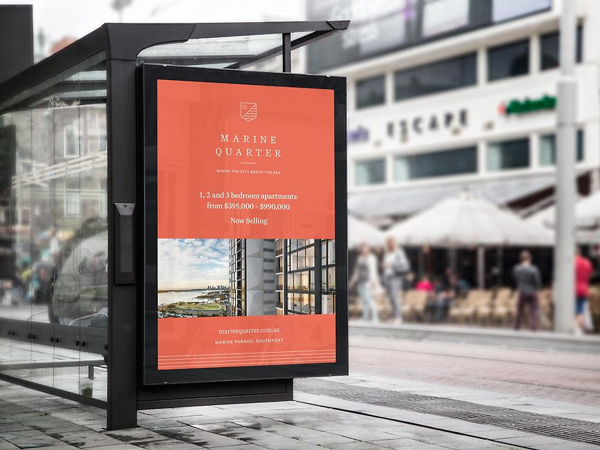 Marine Quarter, Southport Apartments - Advertising by Small & Co