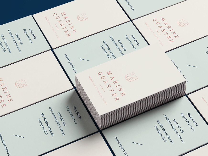 Marine Quarter, Southport Apartments - Sales Agent Business Cards by Small & Co