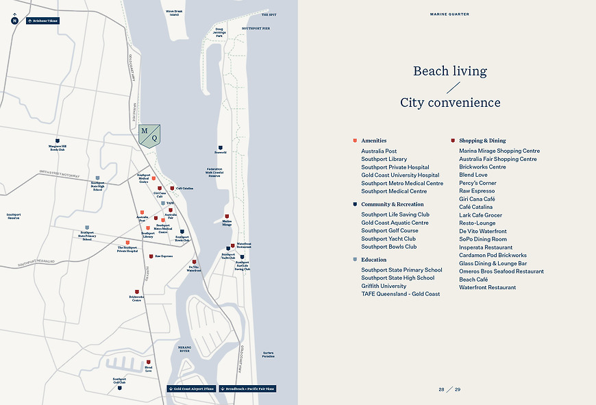 Marine Quarter, Southport Apartments - Amenity Map by Small & Co
