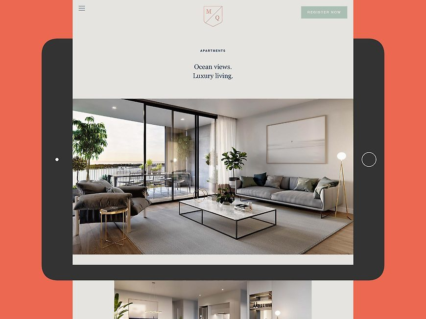 Marine Quarter, Southport Apartments - Website by Small & Co